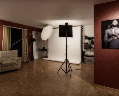 Studiofläche mit Licht und Hintergrund - metamorphoto Fotostudio Zürich